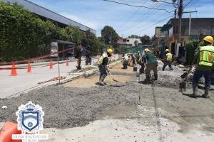 Mejoramiento Calle frente al Polideportivo Zona 8
